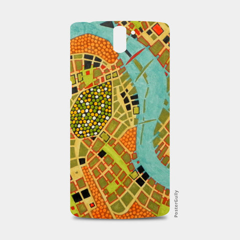 One Plus One Cases, imaginary map of Koblenz One Plus One Cases | Artist : federico cortese, - PosterGully