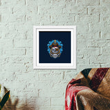 Skull Cartoon Pirate Premium Square Italian Wooden Frames | Artist : Inderpreet Singh