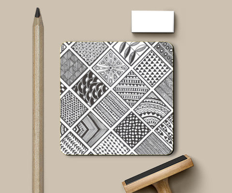 Prints in Squares Coasters | Artist : Aniket Mitra