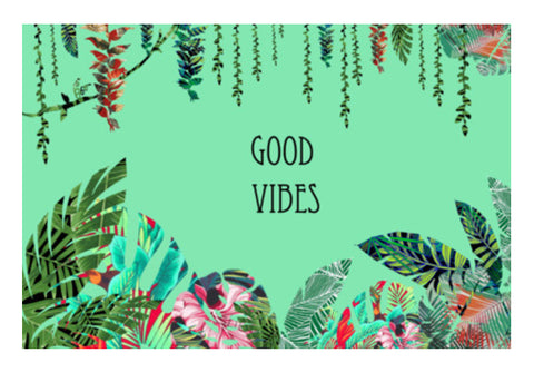 good vibes wall art, a fresh look to your wall with tropical prints Wall Art  | Artist : All the randomness