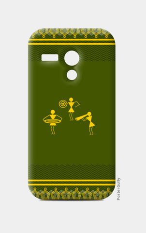 beautiful warli folk art Moto G Cases | Artist : Niharika Shenoy