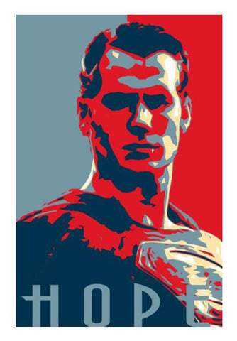 PosterGully Specials, Superman Hope Wall Art | Artist : LinearMan, - PosterGully