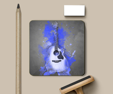 Guitar Splash – Blue Coasters | Artist : Darshan Gajara's Artwork