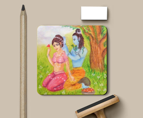 Coasters, Shiva and Parvati Coaster | artist: Lalitavv, - PosterGully