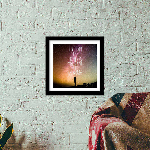 Live today carpe Diem travel wanderlust adventure quotes  Premium Square Italian Wooden Frames | Artist : Gauri Deshpande