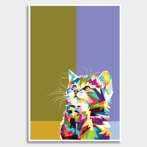 Colorfully Cat Hope Giant Poster | Artist : Inderpreet Singh