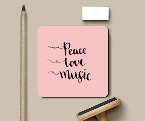Peace Love Music Coasters | Artist : Inderpreet Singh