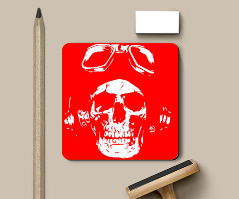 Coasters, Red Skull Coaster | Md. Hafiz Shaikh, - PosterGully