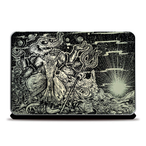 Laptop Skins, The Alien Dancing Ganapati | Charbak Dipta, - PosterGully