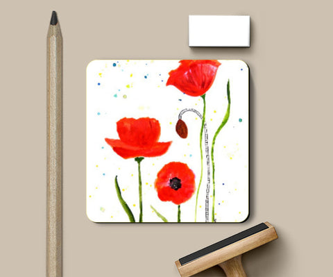 Coasters, Floral Coaster | Shweta D, - PosterGully