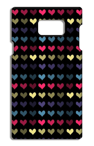 HEARTS Samsung Galaxy Note 5 Tough Cases | Artist : Pallavi Rawal