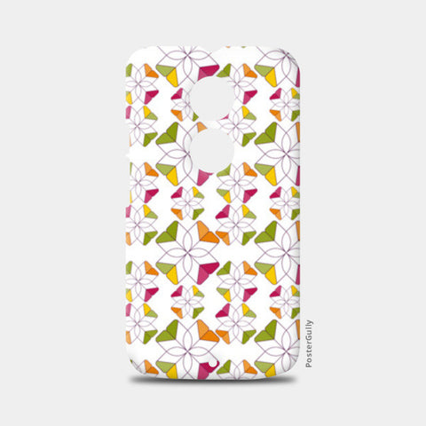 Flowers Retro Shapes Geometric Pattern On Multicolor Moto X2 Cases | Artist : Designerchennai