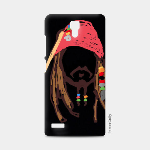 Jack Sparrow Pirates Of The Caribbean Minimal Doodle Redmi Note Cases | Artist : Praband