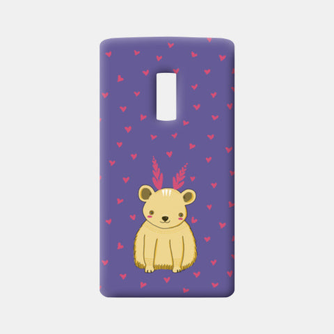 Cute Bear Pattern One Plus Two Cases | Artist : Prajakta Rao