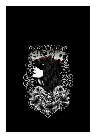Women With Tattoo Flower  Wall Art | Artist : Inderpreet Singh