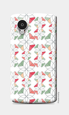 Flowers Retro Shapes Geometric Pattern Nexus 5 Cases | Artist : Designerchennai