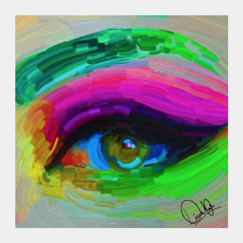 Square Art Prints, The Enchanting Eye Square Art | Divakar Singh, - PosterGully