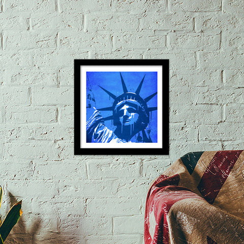 Premium Square Italian Wooden Frames, Liberty of New York Premium Square Italian Wooden Frames | Artist : Durro Art, - PosterGully - 1