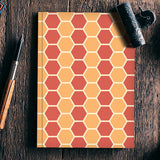 Hexagonal tiling pattern Notebook | Artist : Designerchennai