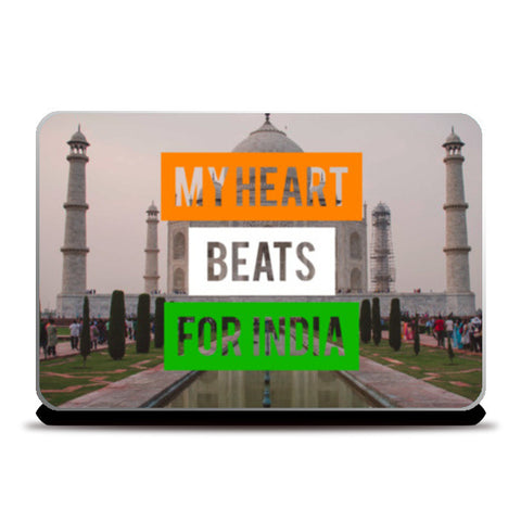 Laptop Skins, My Heart Beats For India Laptop Skins | Artist : Rahul Bagdai, - PosterGully
