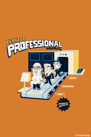 Brand New Designs, Perfect Professional Machine - Orange | By Captain Kyso, - PosterGully - 1