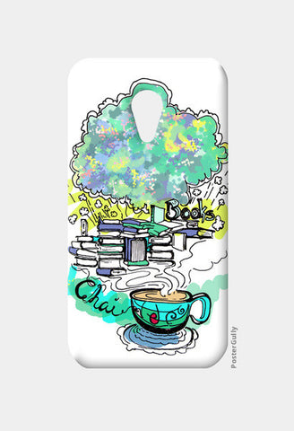 Moto G2 Cases, Books and Chai Moto G2 Cases | Artist : Poornima Kumar, - PosterGully