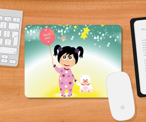 Mousepad, Moon Girl Mousepad | Artist : Vidhisha Kedia, - PosterGully
