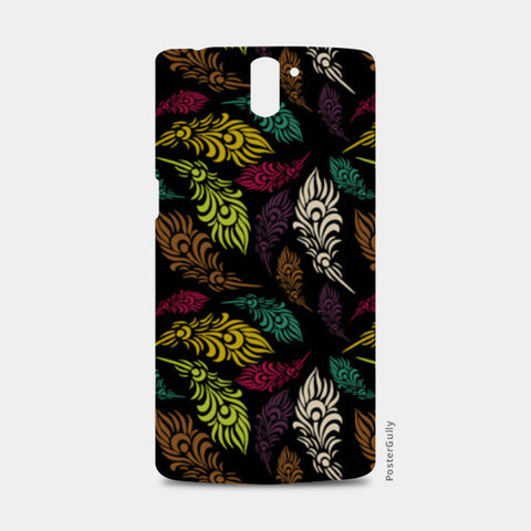 Seamless hand drawn vector leaves  One Plus One Cases | Artist : Designerchennai