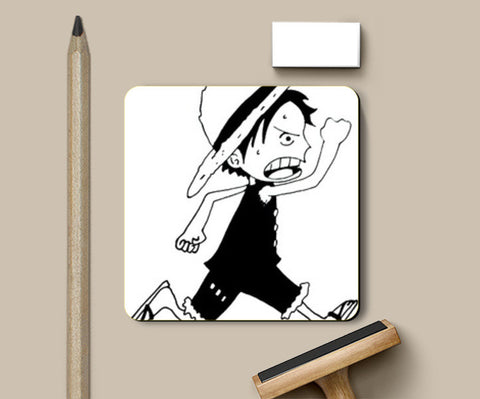 Run Luffy One Piece Coasters | Artist : Aastha Pruthi