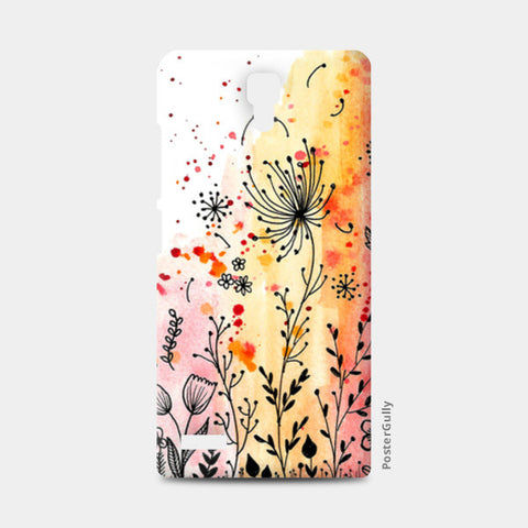 Fall Florals Redmi Note Cases | Artist : Swathi Kirthyvasan