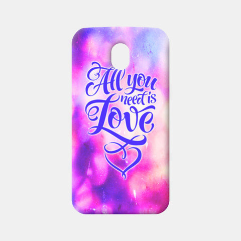All You Need is Love Moto G3 Cases | Artist : Vaishak Seraphim