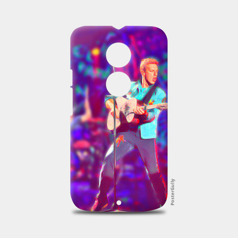 Chris Martin from Coldplay Moto X2 Cases | Artist : Ayushi Jain