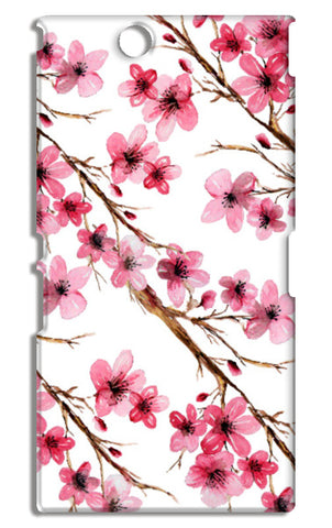 Beautiful Pink Spring Cherry Blossoms Floral Pattern Sony Xperia Z Ultra Cases | Artist : Seema Hooda
