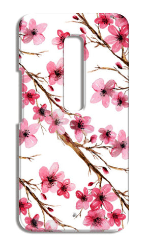Beautiful Pink Spring Cherry Blossoms Floral Pattern Moto X Play Cases | Artist : Seema Hooda