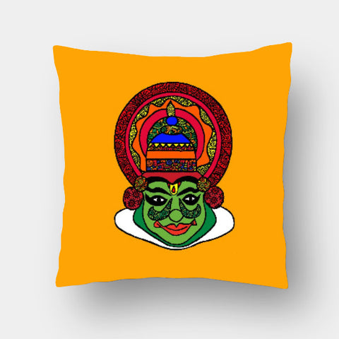 Cushion Covers, Kathakali Zenscrawl Cushion Cover | Meghnanimous, - PosterGully