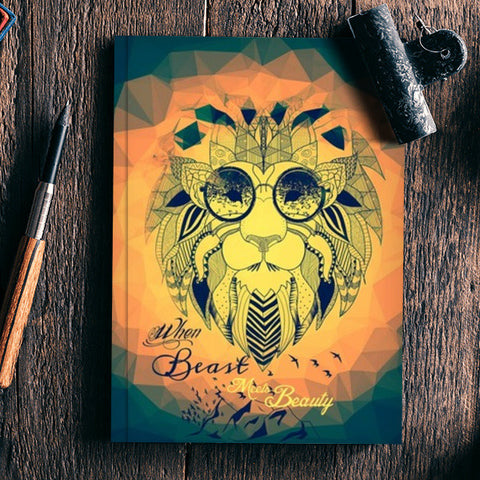 WHEN BEAST MEETS BEAUTY  Notebook | Artist : nilesh gupta