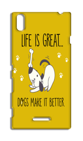 Life is Great Dogs Make it Better Sony Xperia T3 Cases | Artist : Manju Nk