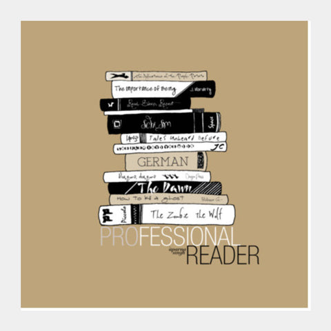 Professional Reader (Brown) Square Art Prints | Artist : Aparna Singh