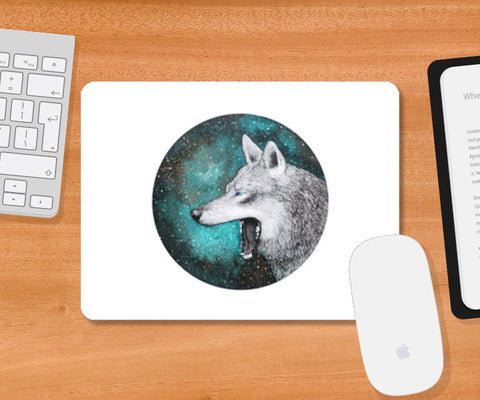Blue Wolf Mousepad | Artist : Prakersh Gupta