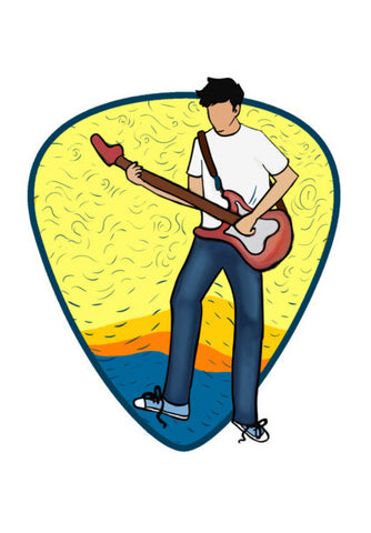 The Guitarist Wall Art | Artist : Malay Jain