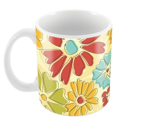 Flora Coffee Mugs | Artist : Tiny Dots