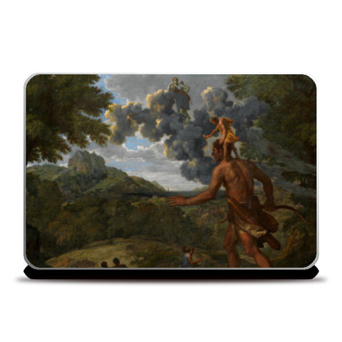 Blind Orion Searching for the Rising Sun by Nicolas Poussin Laptop Skins | Artist : Aditya Gupta