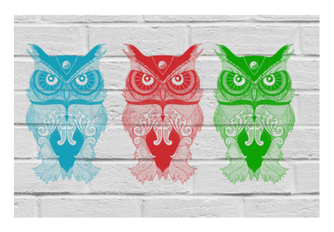 3 Wise Owls Wall Art  | Artist : C-zure