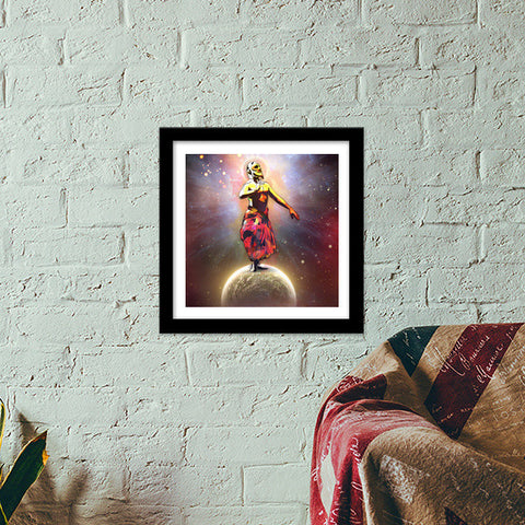 Dance Above The Surface Of The World Premium Square Italian Wooden Frames | Artist : Archana Aravind