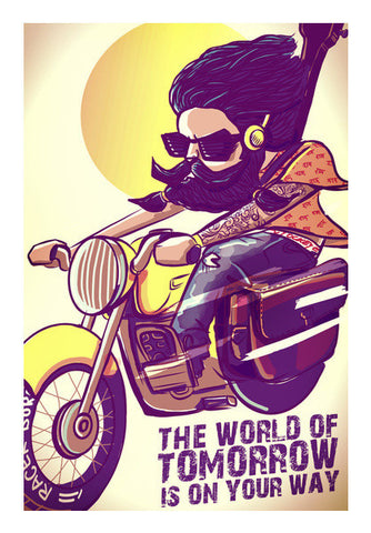 Crazy Biker Art PosterGully Specials