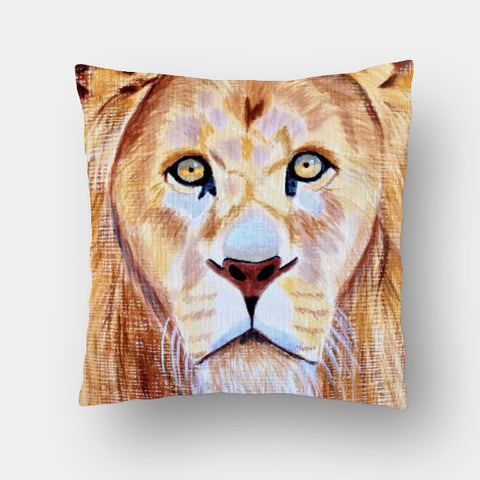 Cushion Covers, Lion Cushion Cover | Artist: Anuja Katti, - PosterGully