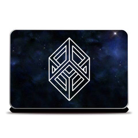 Cube Illusion geometry abstract art Laptop Skins | Artist : Gauri Deshpande