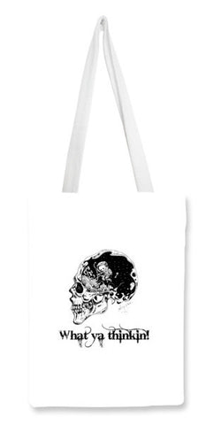 Tote Bags, WHAT YA THINKIN! Tote Bags | Artist : Asees Kaur, - PosterGully