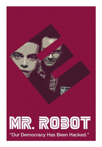 PosterGully Specials, Mr. Robot  Wall Art | Artist : Namit Halakhandi, - PosterGully
