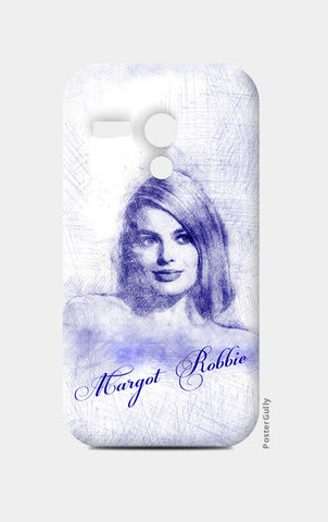 Margot Robbie pen sketch Moto G Cases | Artist : Abhishek Faujdar